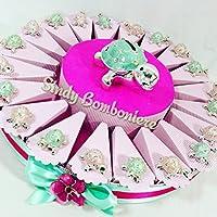 BOMBONIERA per battesimo nascita 1° compleanno comunione cresima composta da una tartaruga salvadanaio e da tartarughe argentate appoggio. Le bomboniere sono in materiale resina argentata e madreperla rosa e tiffany, dimensioni 4x3 cm. La tor...