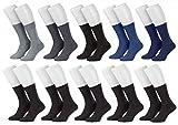 Tobeni 10 Paar Herrensocken Business Socken 100% Baumwolle Spitze ohne Naht Farbe 5x Farbig 5x Schwarz Grösse 43-46