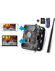 3G Überwachungskamera 3G Wildkamera ( 3G GPRS GSM ) mit FOTOAPP, Jagdkamera, 0,4s Auslösezeit, Fotofalle, SIM-Karte inkludiert, europaweiter Empfang, 8AA Batterien und 8GB SD Karte sind dabei