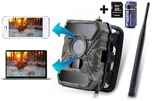 3G Wildkamera ( 3G GPRS GSM ) mit FOTOAPP, 3G Überwachungskamera, Jagdkamera, 0,4s Auslösezeit, Plug n Play, Fotofalle, SIM-Karte inkludiert, europaweiter Empfang, 8AA Batterien und 8GB SD Karte sind dabei