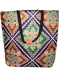 Design Villa Multi Color Multi Purpose Large Size Fabric Travel / Hand / Shopping Bag