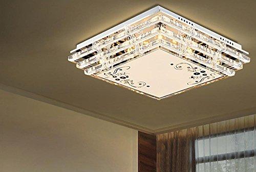 OLQMY-LED, Deckenleuchte, Kristall-Lampen, Wohnzimmer, Schlafzimmer, Esszimmer, Saal, Atmosphäre, modern, einfach, (40 * 40 * 9 cm) (Tiffany-tisch-lampe Gold)