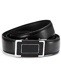 Gil design grille automatique 6013–2 ceinture en cuir noir
