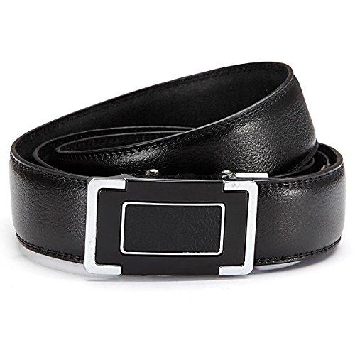 GIL-Design grille automatique 6013-2 ceinture en cuir noir - Noir - 105 cm