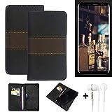 K-S-Trade® Mobile Case + Earphones For Bluboo S8 Wallet