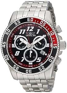 Invicta Men's 50mm Steel Bracelet & Case S. Sapphire Swiss Quartz Black Dial Chronograph Watch 14509
