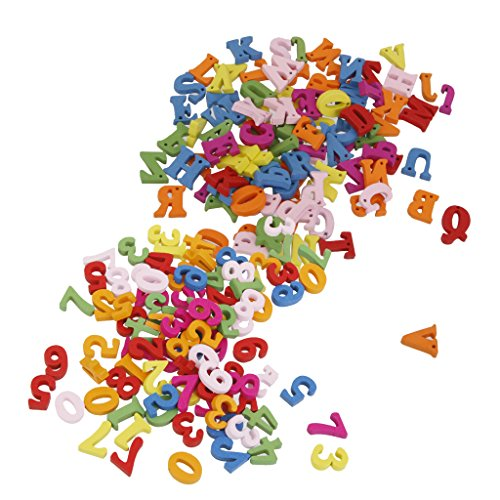 Sharplace 200er Bunte holz Buchstaben holz Zahlen basteln Handwerk
