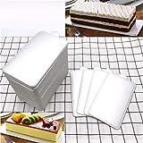 Einweg-Kuchenbretter aus Pappe, rechteckig, für Mousse, Cupcakes, Dessert, 100 Stück