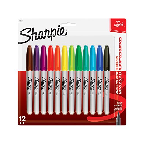 sharpie-fine-punto-marcatori-permanenti-12-pkg-assortiti-colori