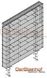 DerSteinhof | Stabile Zaungabione| Sichtschutzelemente | Professional | Zaunsystem aus Gittermatten und Rundrohrpfosten | Made in Germany | 5x10cm | (b) Anbaumodul, 200x30x100cm