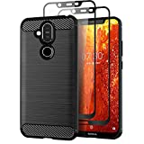 Teayoha Case for Nokia 8.1, with Tempered Glass Screen