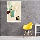 Nordic Abstrakte Moderne Malerei auf Leinwand, für Damen, zum Waschen von Kleidung, Wall Art, Bild für Wohnzimmer Home Decor, Kunstdruck auf Leinwand, 60 x 90 cm, No Frame