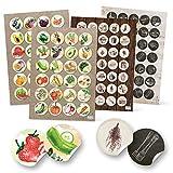 Logbuch-Verlag 118 runde Aufkleber Küche Essen Obst Gemüse Früchte Ernährung Küchenaufkleber...