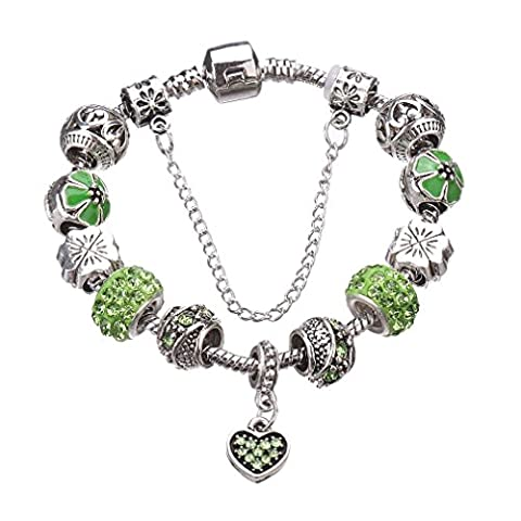 Z&YQ Bracelet Bracelet Antique Argent Plaqué Pendentif Coeur Bracelet Strands