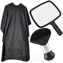 TRIXES Paquete de Peluquería - Incluye espejo, bata de cuerpo / capote y cuello