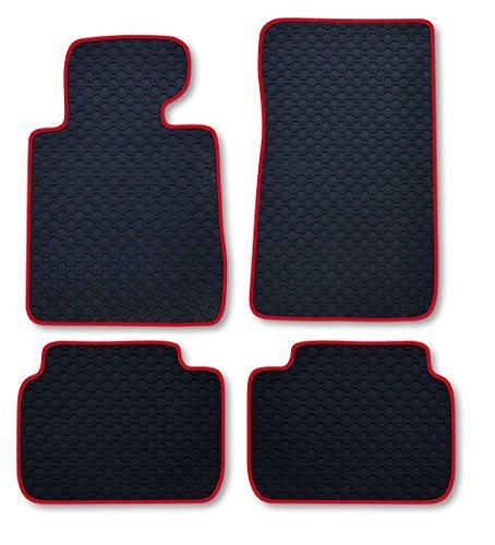Preisvergleich Produktbild RAU Passform Gummimatte Fussmatte OCTAGON mit roter Bandeinfassung - passend für das von Ihnen ausgewählte Fahrzeug, siehe Artikelbeschreibung