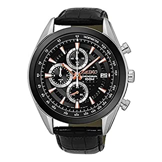 Seiko Chronograph Quartz Men's Watch Ssb183P1 Black
