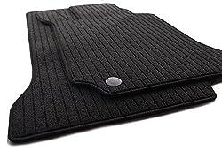 kh Teile Fußmatten/Rips Automatten Original Qualität, Ripsmatten 2-teilig, schwarz