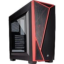 Corsair Carbide SPEC-04 - Caja de ordenador gaming Mid-Tower ATX con ventana, color negro y rojo