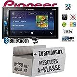 Mercedes A-Klasse W169 Audio 20 - Autoradio Radio Pioneer MVH-A200VBT - 2-Din Bluetooth | MP3 | USB | - Einbauzubehör - Einbause