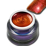 Premium UV Farbgel Flip-Flop Effekt Rot - Orange Sunrise 5ml