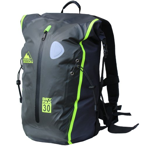 dry bag rucksack COX Swain 30L super leichter wasserdichter Outdoor Rucksack Packsack für Fahrrad, Wassersport etc., Colour: Grey