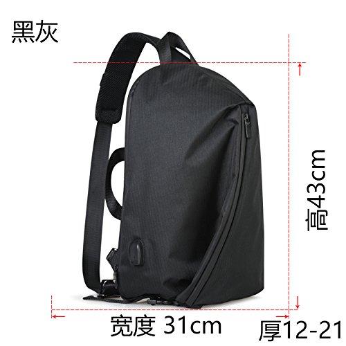 MSZYZ Weihnachtsgeschenke Single Tasche Mann Satchel Koreanische Studenten Brust Pack Sporttasche