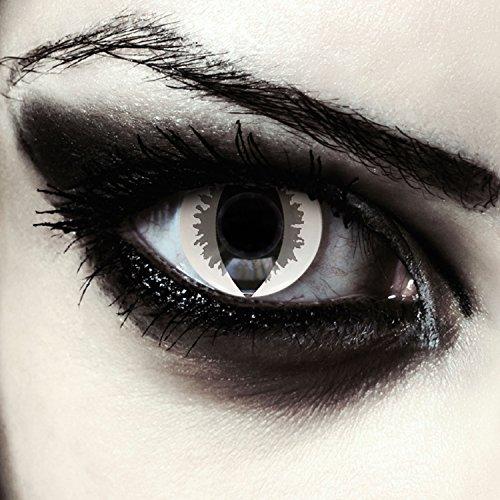 Graue Drachen Augen Kontaktlinsen für Karneval oder Halloween Kostüm Farblinsen in grau Design: Grey Dragon + gratis Kontaktlinsenbehälter