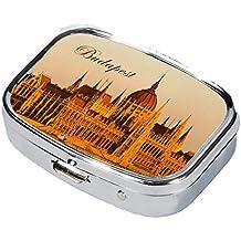 Fridolin 99329 Budapest-Caja de Metal para píldora anticonceptiva, 5,1 x 3