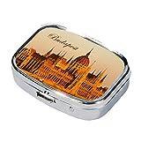 Fridolin 99329 Budapest-Caja de metal para píldora anticonceptiva, 5,1 x 3,6 x 1,8 cm
