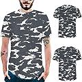 Men's Graphic Print T-Shirt, DIKEWANG Fashion Mens Splash-Ink 3D Printing Tees Shirt Short Sleeve T-Shirt Blouse Tops Hip Hop Casual Fitness Tops for Man