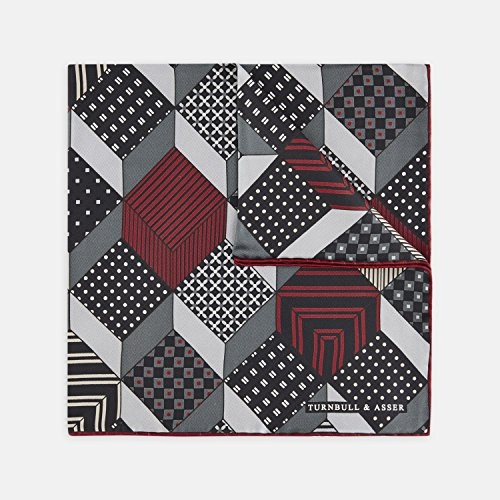 turnbull-asser-patchwork-blocks-grey-and-red-silk-pocket-square-rrp-70