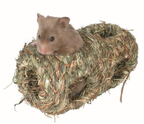 Trixie 6109 Doppel Gras Nest Haus für Hamster, 19x 10cm Durchmesser