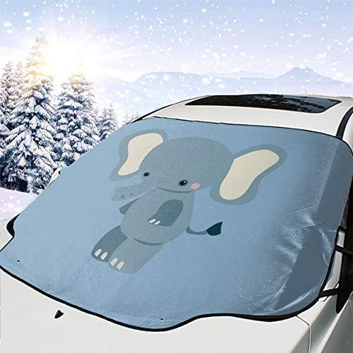 Csiemns Parasol para Parabrisas de bebé con diseño de Elefante para Coche, Plegable, con Reflector UV y Parasol para ventanilla Delantera de Coche, Mantiene el vehículo Fresco