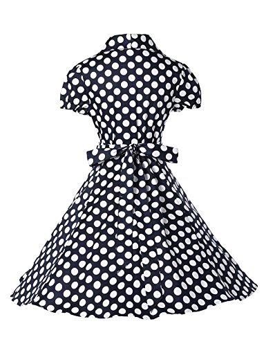 Mode Elegant Attraktive Sommerkleid Partykleid Knielang 100% Cotton L CL6089-1 -