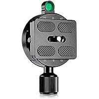 Neewer 55 mm de tornillo pomo Universal con tornillo de 50 mm placa de liberación rápida para cabeza de trípode