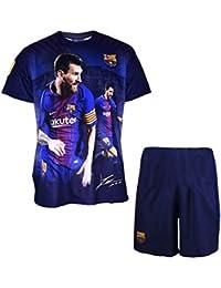 Fc Barcelone Niño de Camiseta y pantalón Corto, Lionel Messi, nº 10, colección
