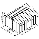 XXXL Metall Gerätehaus 277x309x192cm Geräteschuppen Garten Schuppen Gartenhaus Satteldach (Grau)