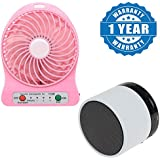 Drumstone Portable Electric Cooling Handheld Rechargeable Li-Ion Battery USB Mini Fan With S10 Wireless Mini Bluetooth Speaker Mp3, Tf Card Suported