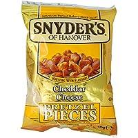 Snyder's Pretzel Pieces Cheddar Cheese, Trozos de Pretzel con Sabor a Queso, 125 g