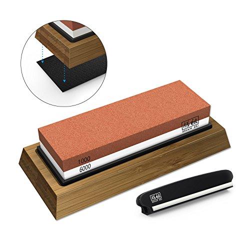 ¿Cómo afilar tu cuchillo? 1.Deja la piedra en el agua durante unos 5 minutos, para que la piedra pueda absorber completamente la humedad. 2. De acuerdo con los diferentes usos de diferentes cuchillos para elegir su ángulo de afilado: 17 grados: navaj...