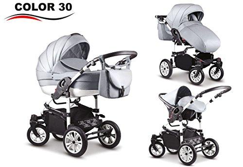 Coche de Bebé 3 en 1, modelo Victory One (gris claro con blanco)