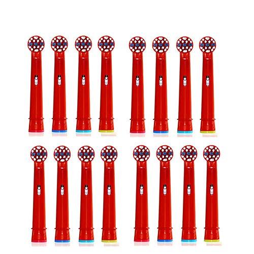 Testine Spazzolino Di Ricambio U-Prime,Compatibili Con Oral-B Stages Power Star Wars EB10-4(EB-10A) Testine(per Spazzolini Elettrici), 16 Pezzi(4-Pack)