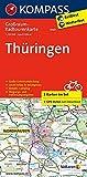 Thüringen: Großraum-Radtourenkarte 1:125000, GPX-Daten zum Download: 2-delige fietskaart 1:125 000 (KOMPASS-Großraum-Radtourenkarte, Band 3707)