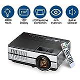 AI LIFE Mini proiettore LCD HD Portatile Supporta proiettori cinematografici per Esterni a LED 1080P 4500 Lumen Proiettore Portatile HD con HDMI e AV