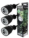GYD 3Stk LED Pflanzenleuchte Pflanzenspot Pflanzen-Strahler Deko-Beleuchtung Deko