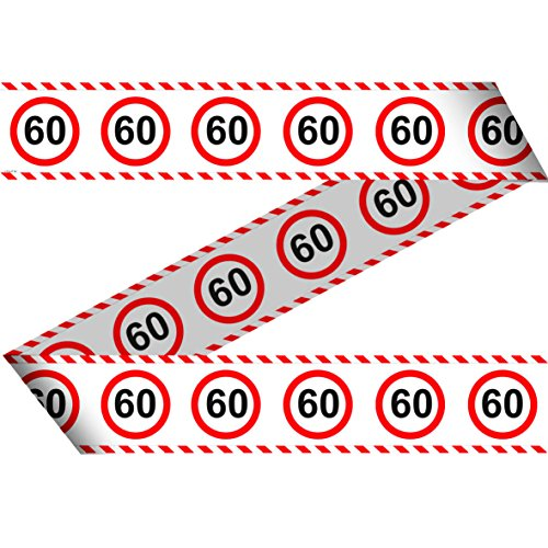 23-tlg. Partyset 60. Geburtstag Dekoset Dekobox – Verkehrschild – Girlanden, Luftballons - 5