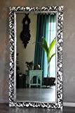 Edler riesiger Barockspiegel Wandspiegel massiv Holz silber antik 150cm x 80cm