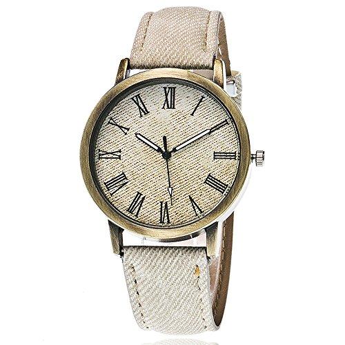 IG-Invictus Liebhaber Quarz Analog Handgelenk Delicate Watch Luxus-Business-Uhren WH Männer und Frauen Paar Uhren römische Waagen Denim Gürtel Punk Uhren Weiß