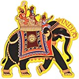 Skywalk India Souvenir Wooden Fridge Magnet - Elephant,Perfect for Gifting